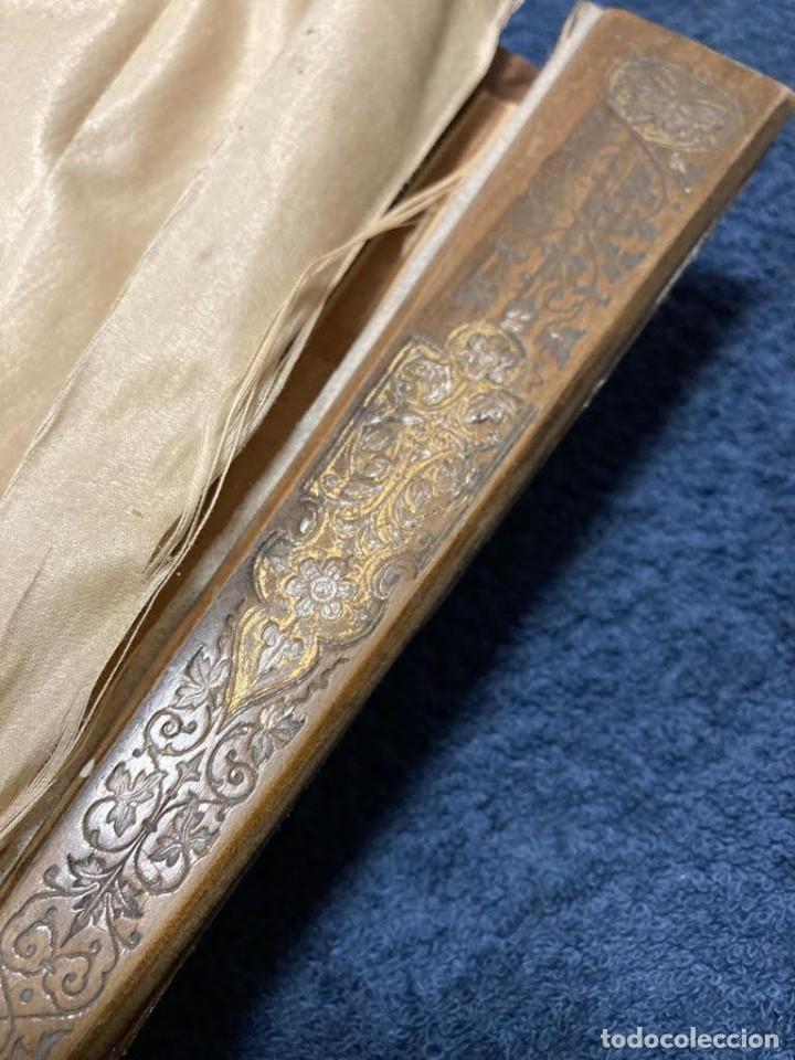 Antigüedades: Abanico grande antiguo seda pintado a mano para restaurar - Foto 5 - 226903522