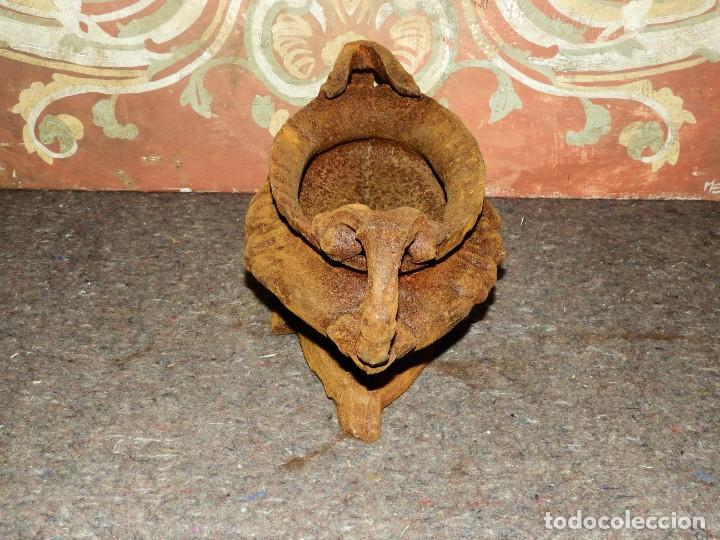 Antigüedades: JARDINERA MACETERO DE HIERRO CON DOS ASAS EN TONO OXIDO - Foto 6 - 226934770