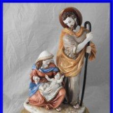 Oggetti Antichi: FANTASTICA FIGURA DE PORCELANA DE ALGORA COLOREADA NACIMIENTO DE JESUS. Lote 226935115