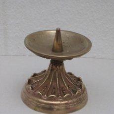 Antigüedades: CANDELABRO BRONCE. 420GR.. Lote 226953045