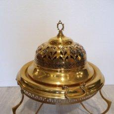 Antigüedades: BRASERO DE BRONCE Y LATON. Lote 226963090