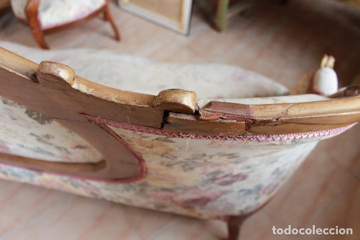 Antigüedades: ANTIGUO TRESILLO, SOFÁ Y DOS SILLONES ISABELINOS. - Foto 8 - 226996555
