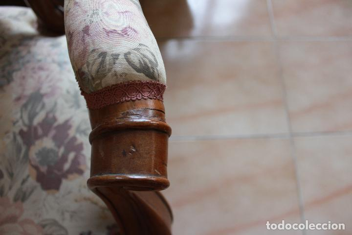Antigüedades: ANTIGUO TRESILLO, SOFÁ Y DOS SILLONES ISABELINOS. - Foto 14 - 226996555