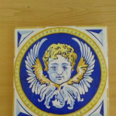 Antigüedades: AZ-50M AZULEJO MODERNISTA ANTIGUO ANGEL. Lote 227002210