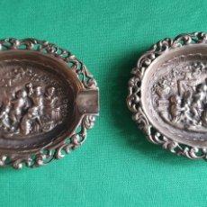 Antigüedades: ANTIGUO PAJERA DE CENICEROS EN PLATA. Lote 227004260