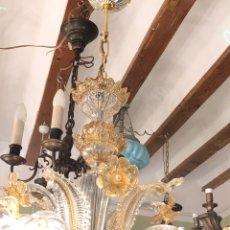 Antigüedades: LAMPARA VENECIANA SIGLO XX DE 6 BRAZOS. Lote 227019265