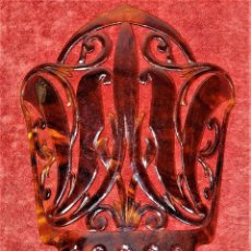 Antigüedades: PEINETA ART DECO. CELULOIDE SÍMIL CAREY TALLADO. ESPAÑA. CIRCA 1920. Lote 227021709