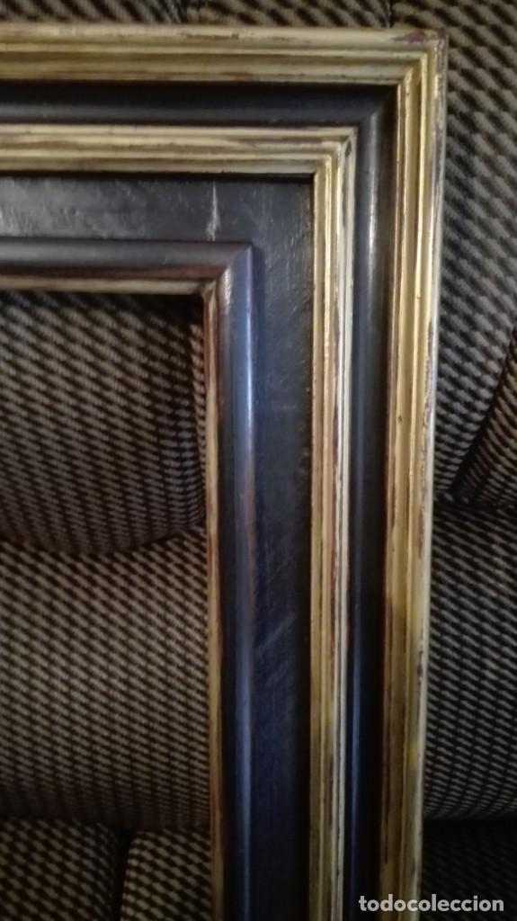 Antigüedades: Marco de madera negro y dorado - Foto 3 - 227024320