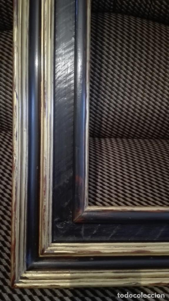 Antigüedades: Marco de madera negro y dorado - Foto 4 - 227024320