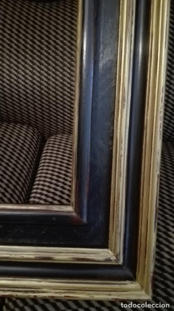 Antigüedades: Marco de madera negro y dorado - Foto 5 - 227024320