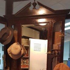 Antigüedades: ANTIGUO PARAGUERO ENTRADA PERCHERO MUEBLES DE LUJO MARIANO GARRIGOS MURCIA. Lote 227037250