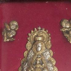 Antigüedades: RELICARIO DE PLATA DE LEY VIRGEN DEL ROCÍO. Lote 227055860