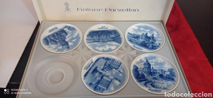 5 PLATOS PORCELANA ALEMANA (Antigüedades - Porcelana y Cerámica - Alemana - Meissen)