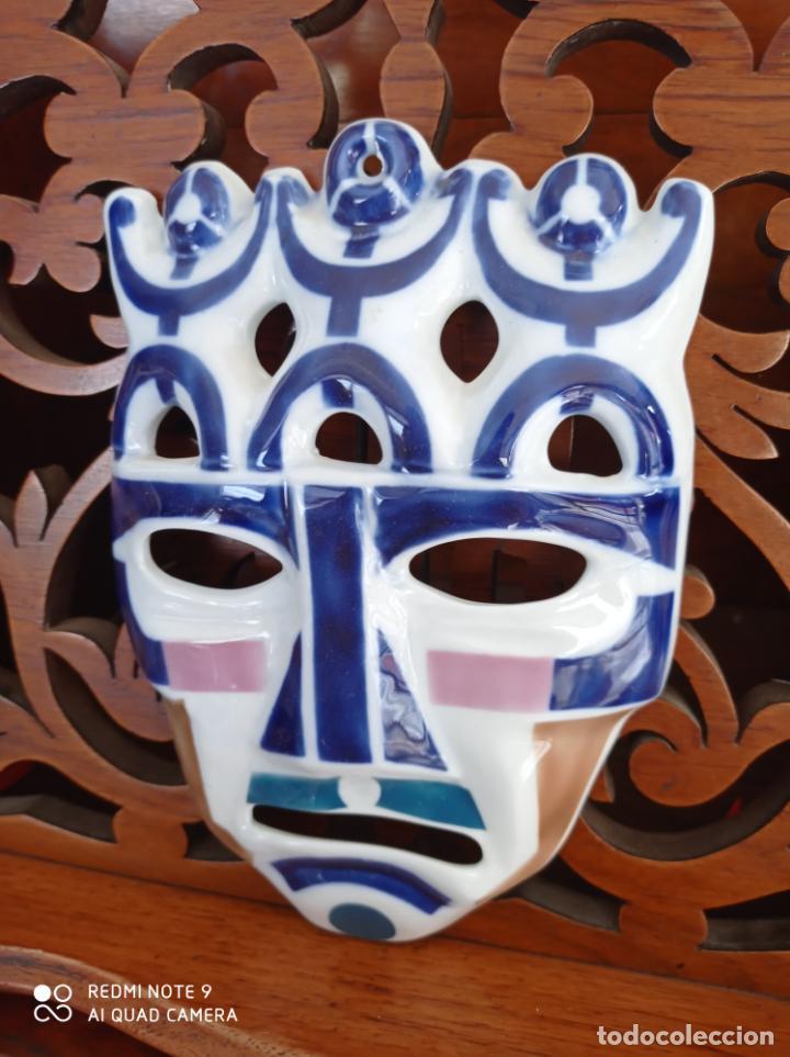 CARETA DE SARGADELOS, DE 19,50 X 13,50 CMS. MASCARA. VER FOTOS (Antigüedades - Porcelanas y Cerámicas - Sargadelos)