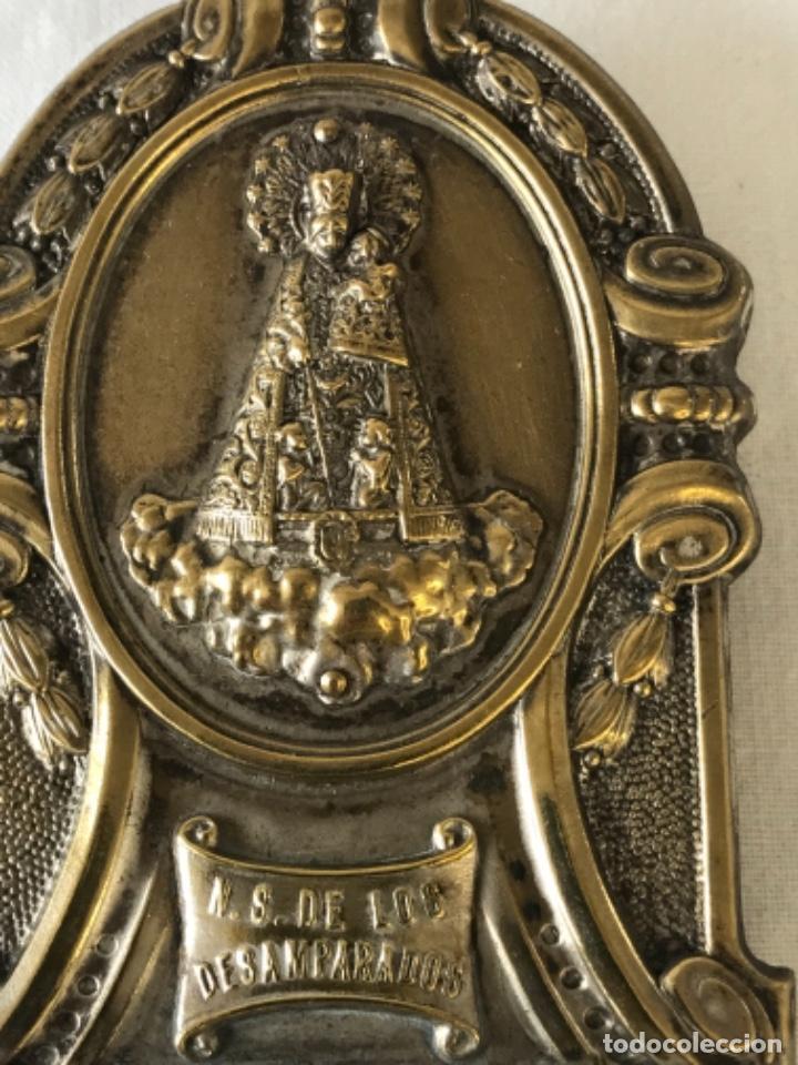 Antigüedades: BENDITERA O PILA DE NUESTRA SEÑORA DE LOS DESAMPARADOS 1900'S. - Foto 2 - 227141885