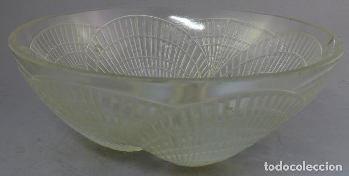 Antigüedades: Cuenco vidrio opalescente Rene Lalique modelo Coquilles firmado al buril hacia 1930 - Foto 2 - 227157395