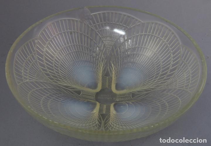 Antigüedades: Cuenco vidrio opalescente Rene Lalique modelo Coquilles firmado al buril hacia 1930 - Foto 4 - 227157395