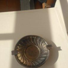 Antigüedades: CENICERO DE ALPACA. Lote 227164805