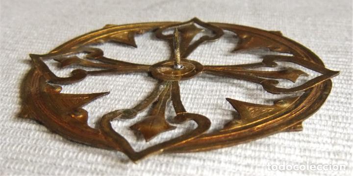 Antigüedades: ANTIGUA CORONA DE METAL DORADO PARA IMAGEN FIGURA RELIGIOSA - Foto 2 - 227167000