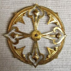 Antigüedades: ANTIGUA CORONA DE METAL DORADO PARA IMAGEN FIGURA RELIGIOSA. Lote 227167000