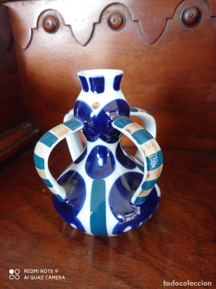 PALMATORIA O CANDELABRO DE SARGADELOS, DE 12 CMS DE ALTO. VER FOTOS (Antigüedades - Porcelanas y Cerámicas - Sargadelos)