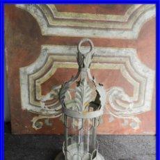 Antigüedades: FAROL APLIQUE O CANDELERO PARA VELA MUY DECORATIVO. Lote 227191560