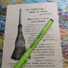 Antigüedades: FOLLETO FÁBRICA DE TAPICES BURGOS. Lote 227200330