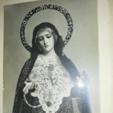 Antigüedades: ANTIGUA FOTO .. ENMARCADA DE LA VIRGEN LA DOLOROSA.. POR EL RECONOCIDO FOTÓGRAFO KAULAK... Lote 227210045