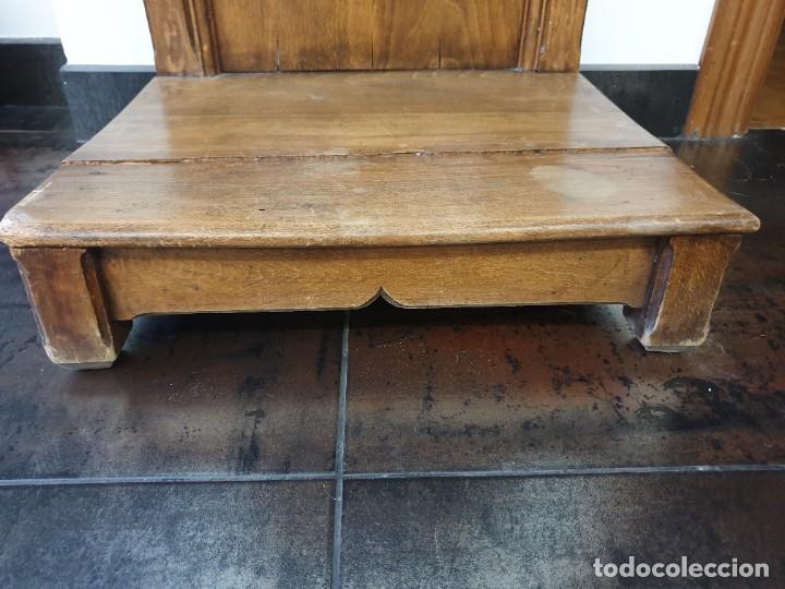 Antigüedades: Antiguo Reclinatorio de Madera - Foto 5 - 227214605