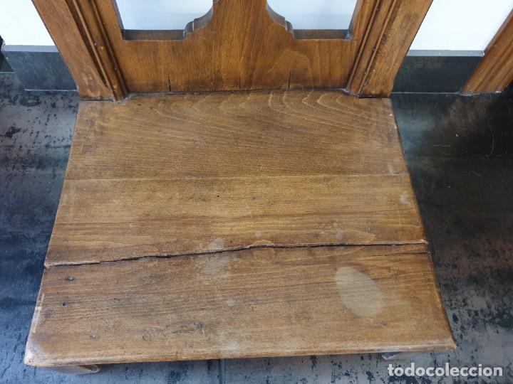 Antigüedades: Antiguo Reclinatorio de Madera - Foto 6 - 227214605