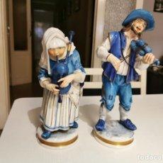 Antigüedades: FIGURAS PAREJA MUSICOS (ALGORA). Lote 227225361