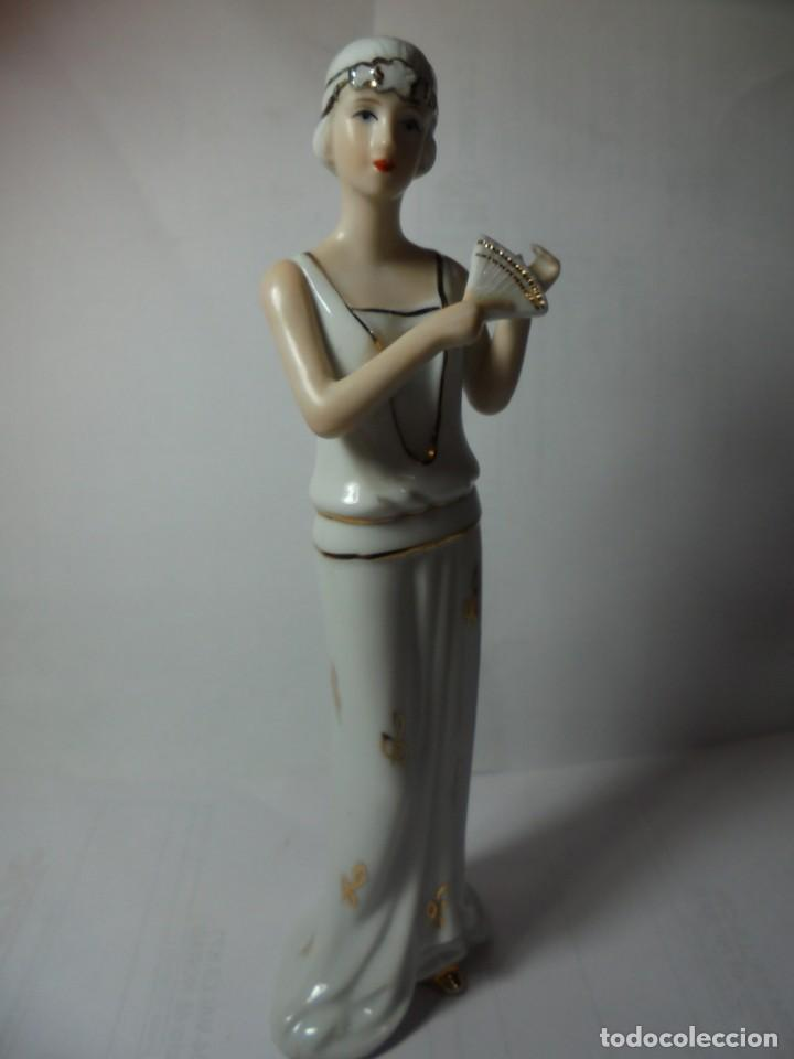 Antigüedades: magnifica figura antigua en porcelana sobre 1930 - Foto 7 - 227480942