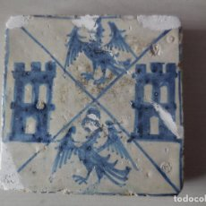 Antiguidades: AZULEJO GÓTICO. HERÁLDICO. MANISES. SIGLO XV. ORIGINAL¡¡. Lote 227555570