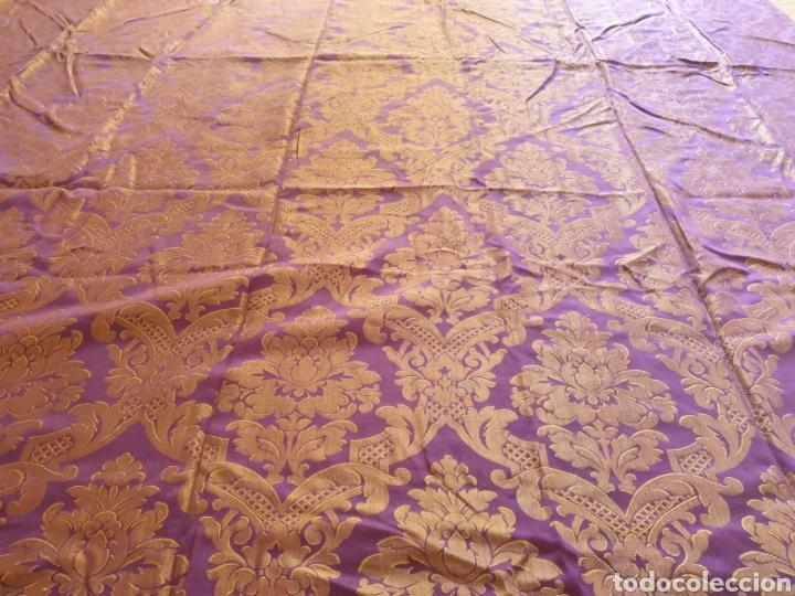 Antigüedades: Antigua Colcha Estampada - Foto 5 - 227575135