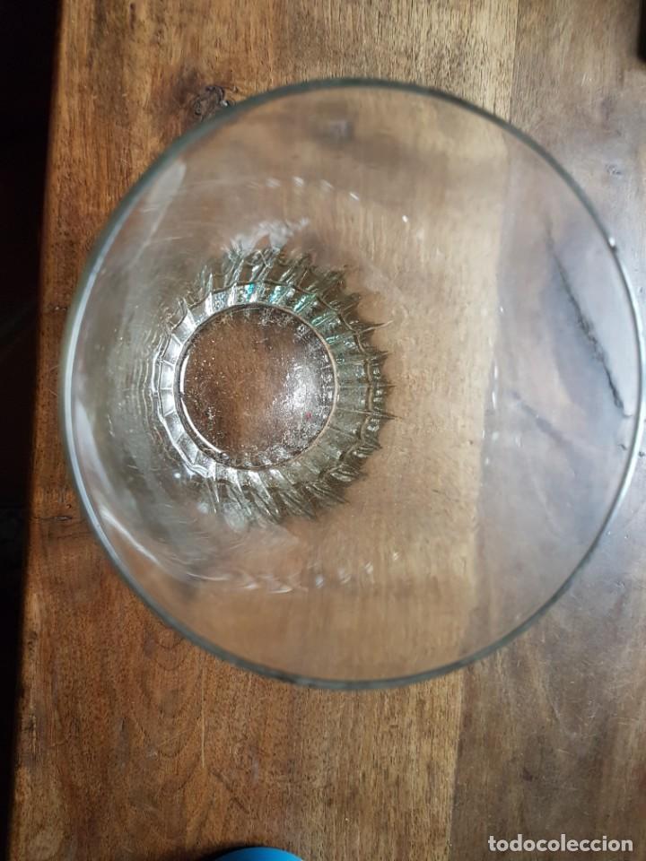 Antigüedades: Antiguo gran vaso cristal posiblemente la granja - Foto 2 - 227581086