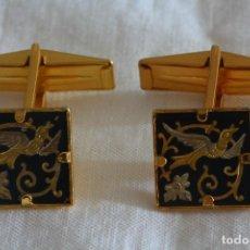 Antigüedades: GEMELOS DAMASQUINADOS. Lote 227598700