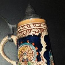 Antigüedades: JARRA DE CERVEZA CON TAPA. Lote 227610475