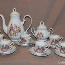 Antigüedades: JUEGO DE CAFÉ DE PORCELANA MADE IN CHINA-6 SERVICIOS. Lote 227612275