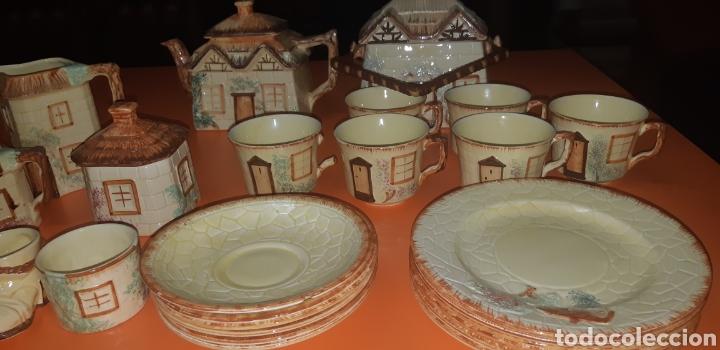 Antigüedades: Juego de te keele st pottery co.ltd 1946 1948 - Foto 4 - 227614425