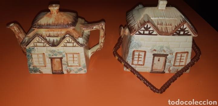 Antigüedades: Juego de te keele st pottery co.ltd 1946 1948 - Foto 5 - 227614425