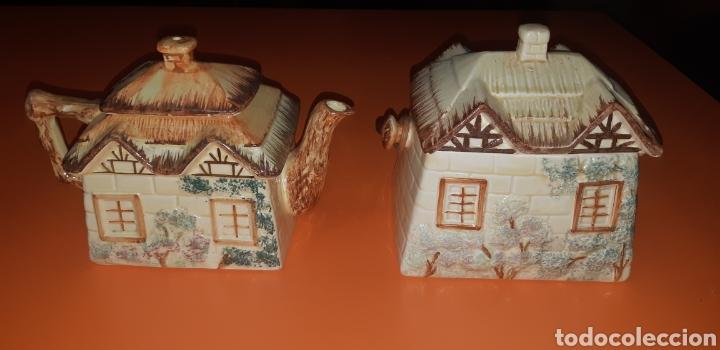 Antigüedades: Juego de te keele st pottery co.ltd 1946 1948 - Foto 7 - 227614425