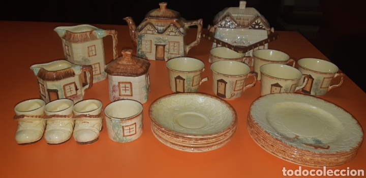 JUEGO DE TE KEELE ST POTTERY CO.LTD 1946 1948 (Antigüedades - Porcelanas y Cerámicas - Inglesa, Bristol y Otros)