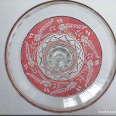 Antigüedades: JARRÓN DE CRISTAL TALLADO Y DOBLADO (BOHEMIA, PRINCIPIOS DEL S.XX). Lote 227668565