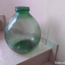 Antigüedades: ANTIGUA DAMAJUANA MUY GRANDE DE BOCA ANCHA. 40 CMS DE ALTURA. Lote 227670155