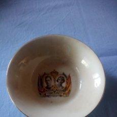 Antigüedades: CUENCO DE PORCELANA H.M. KING GEORGE VI HM QUEEN ELIZABETH CORONATION 1937. Lote 227678005