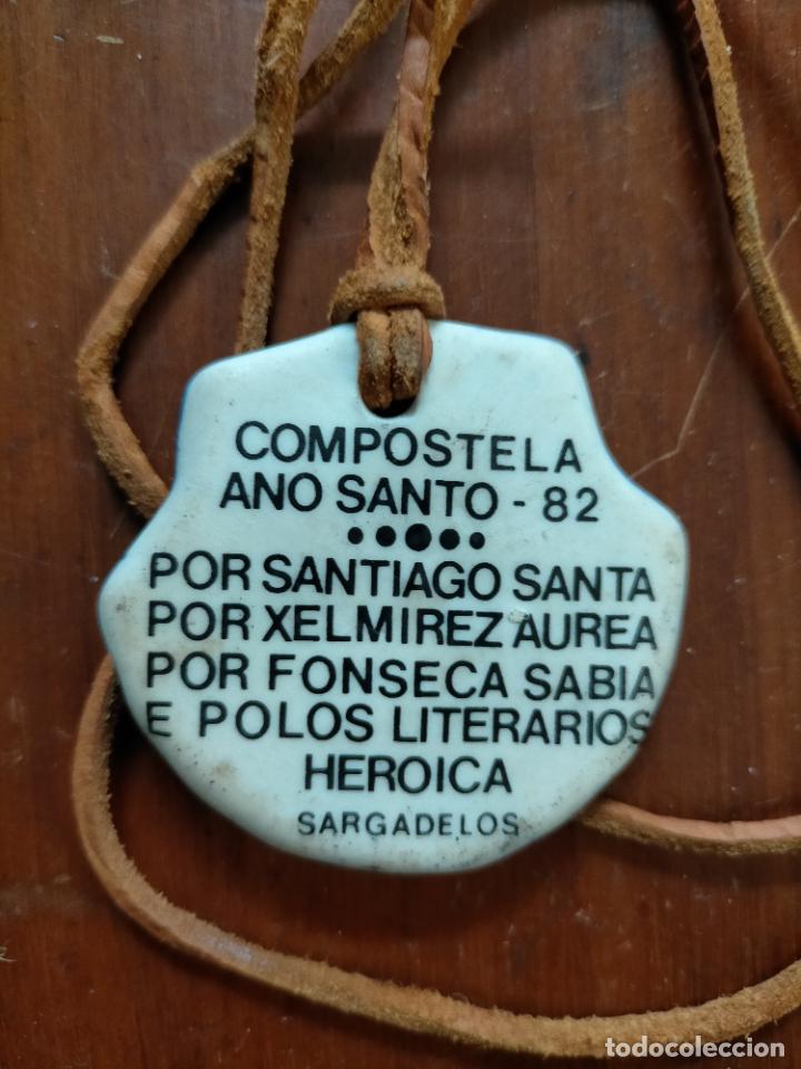 Antigüedades: Concha colgante cerámica Compostela Año Santo 1982 por Santiago Santa por xelmirez aurea por Fonseca - Foto 3 - 227679840