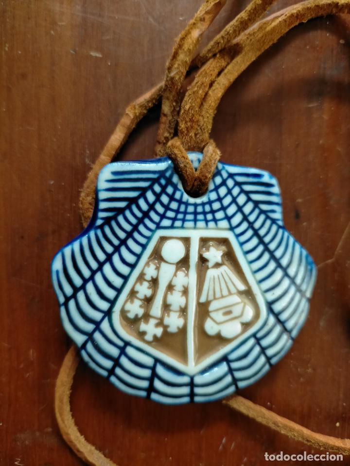 Antigüedades: Concha colgante cerámica Compostela Año Santo 1982 por Santiago Santa por xelmirez aurea por Fonseca - Foto 4 - 227679840