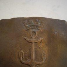 Antiguidades: ANTIGUA HEBILLA DE CINTURÓN MILITAR DE REPÚBLICA ESPAÑOLA MARINA. Lote 227681525