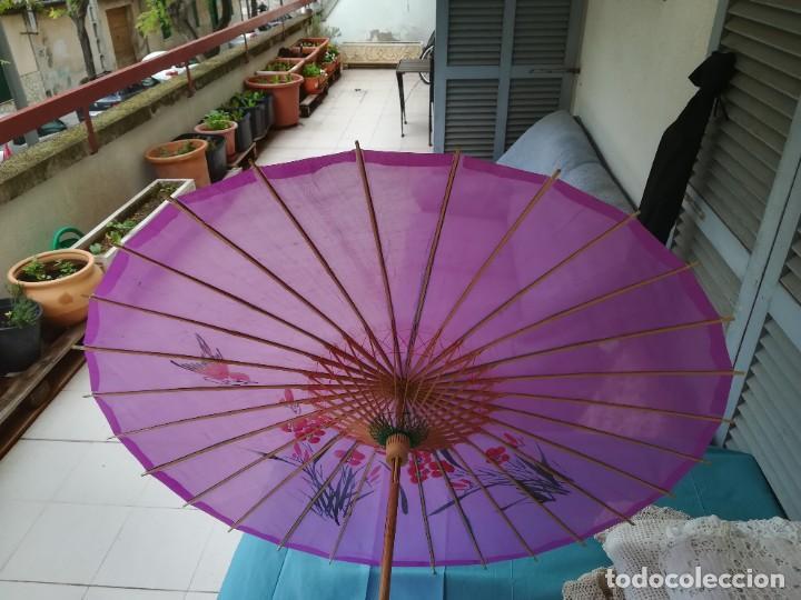 Antigüedades: Sombrilla japonesa - Foto 2 - 227687225