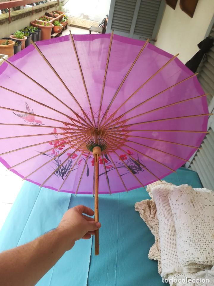 Antigüedades: Sombrilla japonesa - Foto 3 - 227687225